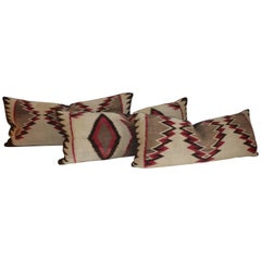 Navajo Eye Dazzler Weaving Pillows / Collection of Three
