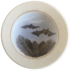 Royal Copenhagen Small Plate with Bats #1406/9199