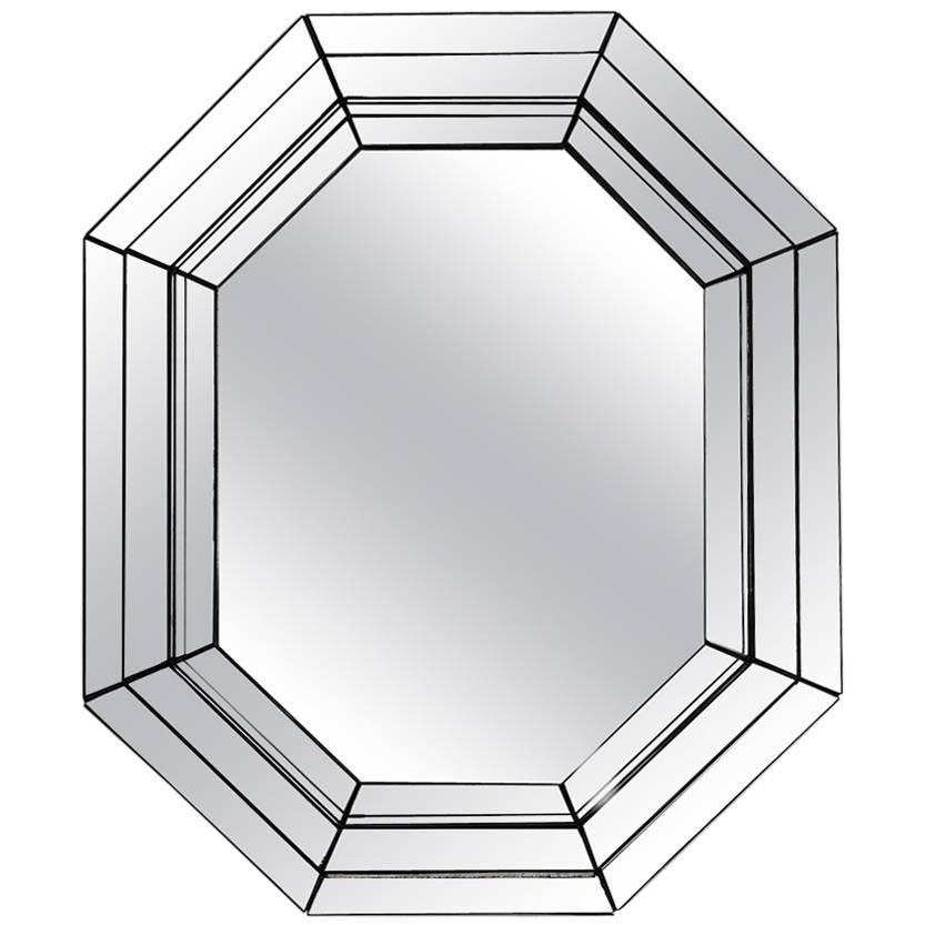 Vintage Tin Octagon Mirror