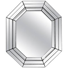 Vintage Tin Octagon Mirror