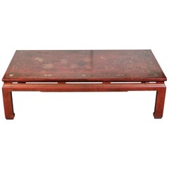 1920s, Crimson, Chinoiserie Coffee Table