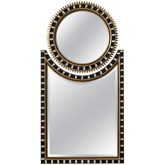 Two Part Art Deco Sunburst Mirror