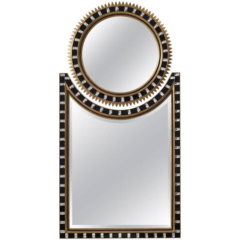 Two Part Art Deco Sunburst Mirror For Sale