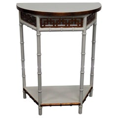 Asian Modern Design Demilune Console Table