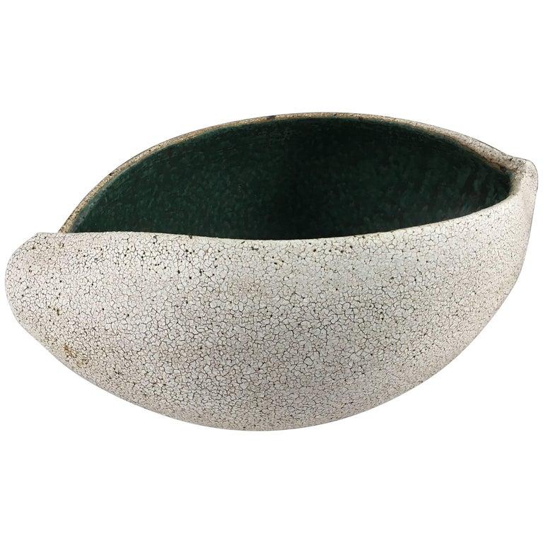 Contemporary Ceramic Boat Shaped Bowl No. 191 by Yumiko Kuga