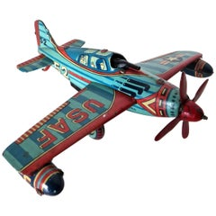 B-52 Tin Toy Wind-Up Airplane, Japan, circa 1950s