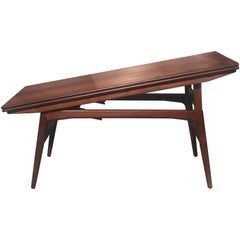 Kai Kristiansen Teak Elevator Coffee to Dining Table with Leaves Made in Denmark