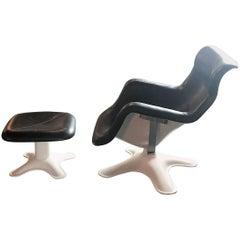 Karuselli Lounge Chair and Ottoman by Yrjö Kukkapuro for Haimi