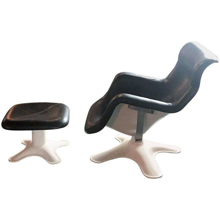 Karuselli Lounge Chair and Ottoman by Yrjö Kukkapuro for Haimi