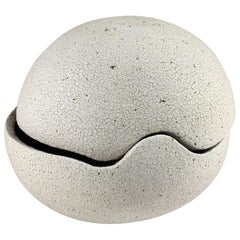 Contemporary Ceramic Orb Covered Vessel No. 196 by Yumiko Kuga