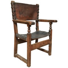 17th Century Spanish Throne Armchair