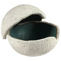 Contemporary Ceramic Orb Covered Vessel No. 198 by Yumiko Kuga