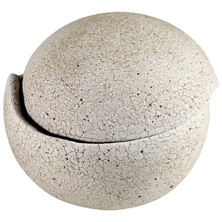 Contemporary Ceramic Orb Covered Vessel No. 202 by Yumiko Kuga