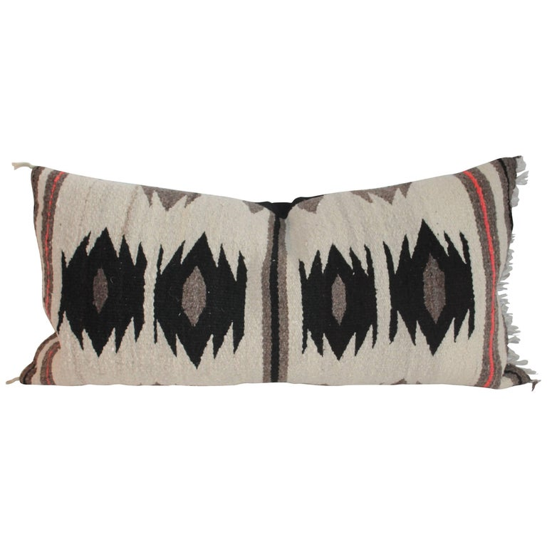 Navajo Weaving / Geometric Saddle Blanket Pillow For Sale