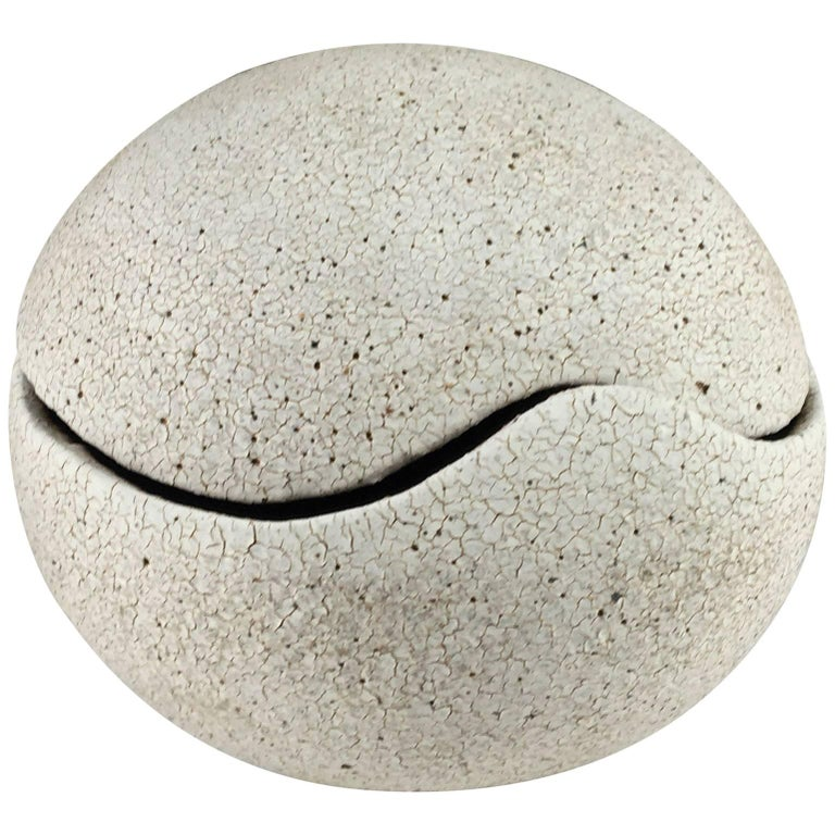 Contemporary Ceramic Orb Covered Vessel No. 203 by Yumiko Kuga