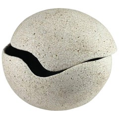 Contemporary Ceramic Orb Covered Vessel No. 204 by Yumiko Kuga