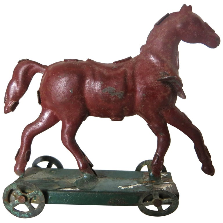Tin Horse on Platform Penny Toy 'Diminutive', circa 1890, German