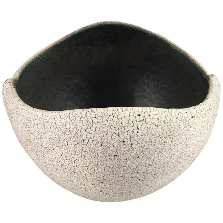 Contemporary Ceramic Boat Shaped Bowl No. 214 by Yumiko Kuga For Sale