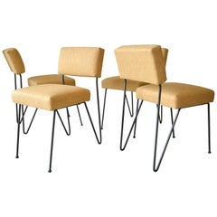 Rare Set of Four Case Study Iron Dining Chairs by Inco, circa 1950