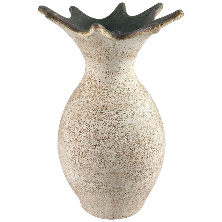 Contemporary Ceramic Flared Vase No. 215 by Yumiko Kuga For Sale