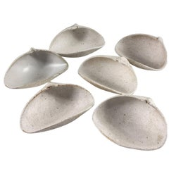 Contemporary Ceramic Set of Shell Bowls No. 218 by Yumiko Kuga