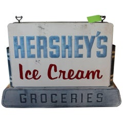 1950s Double Sided Hershey's Ice Cream Sign