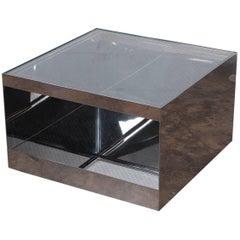 Joe D'urso Polished Stainless Steel Table