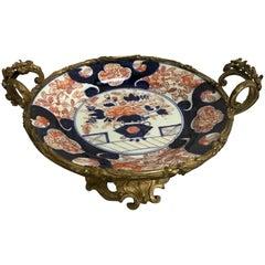 Antique French Ormolu-Mounted Imari Centrepiece