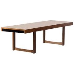 1960s Teak Rectangle Design Coffee Table Attributed to Uldum