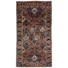 Antique Bakhtiari Area Rug with Four Seasons Garden Design, Persian Gallery Rug