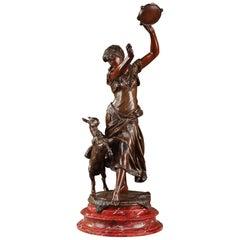 19th Century Bronze Esmeralda after Édouard Houssin, 1847-1919