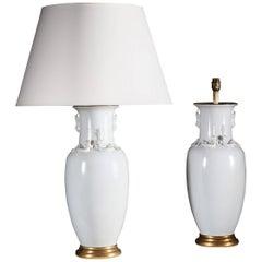 Fine Pair of Blanc de Chine Lamps