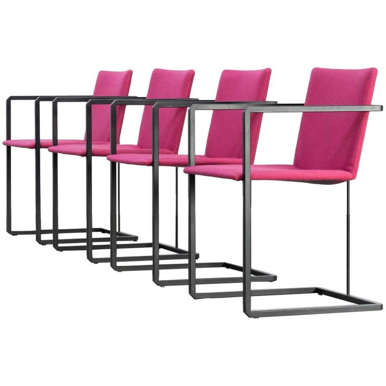 A Set of Four Brno Style Cantilevered Chairs 1970s at 1stdibs