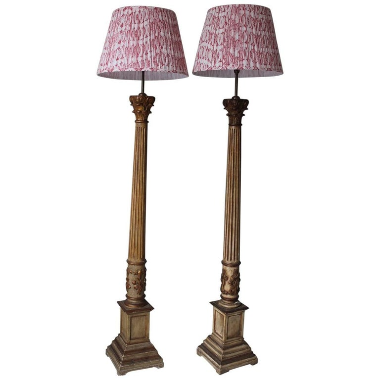 Large Pair of 1960s Spanish Standing Lights
