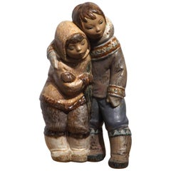Eskimo Boy and Girl by Lladro
