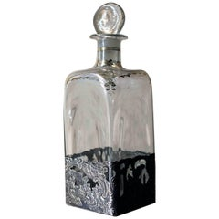 German Glass & Silver Applied Decanter by Berthold Hermann Muller, London 1913