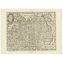 Antique Map of Russia by N. Sanson, 1705
