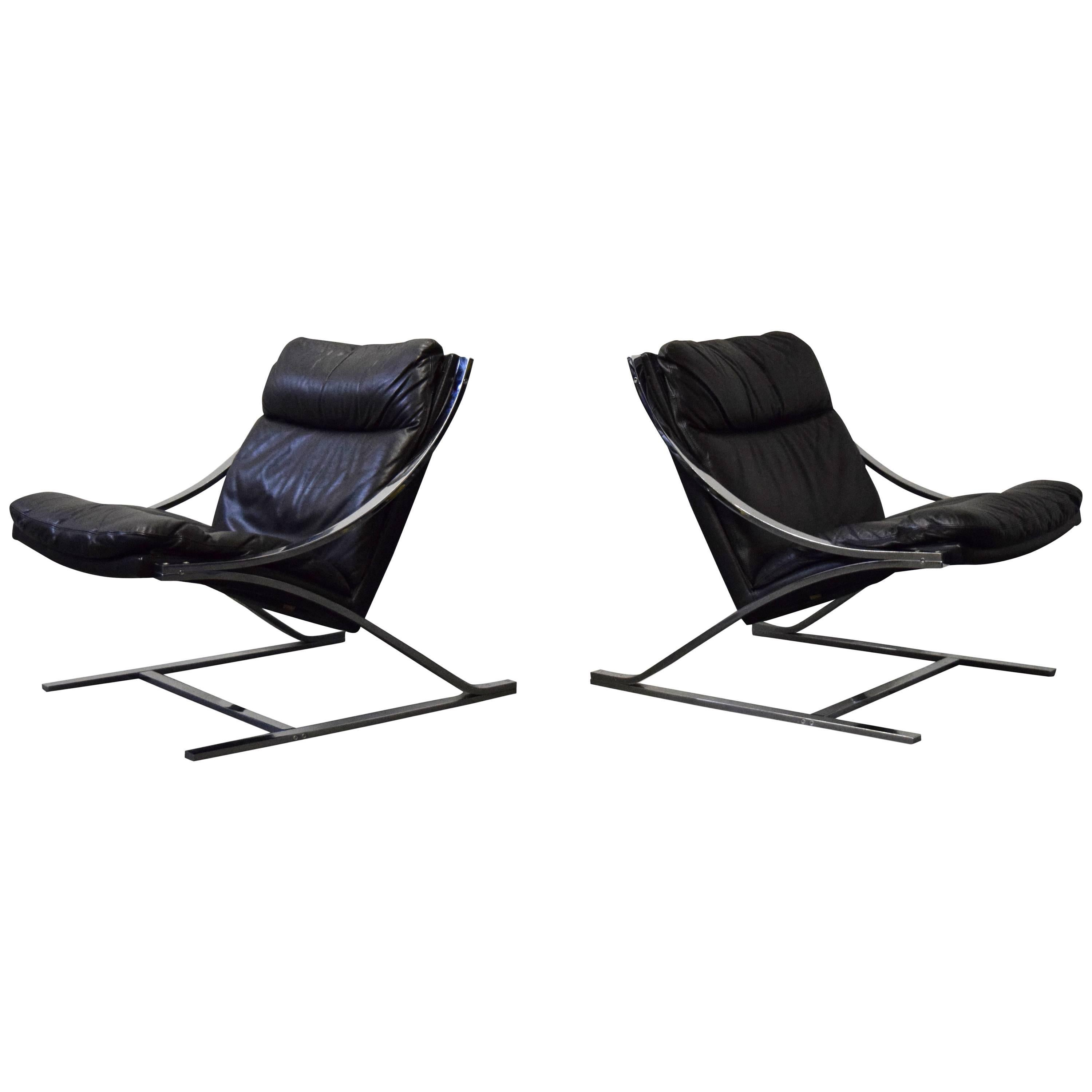 Pair of Paul Tuttle 'Zeta' Lounge Chairs