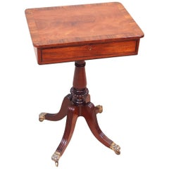 Antique Regency Mahogany Lamp Table