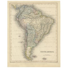 Antique Map of South America by J. Archer, circa 1842