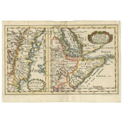 Antique Map of Zanzibar and the East African Coast by N. Sanson, circa 1690