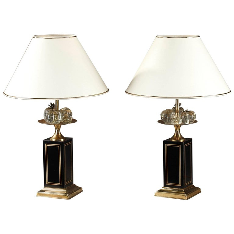 20th Century Pair of Table Lamps in Maison Jansen Taste