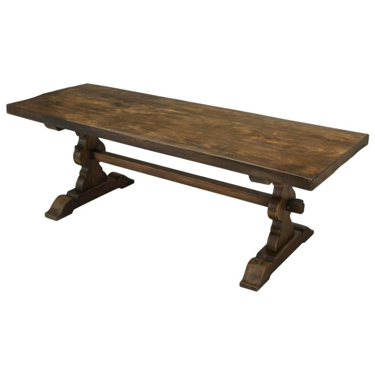 Antique French Trestle Dining Table, circa 1900