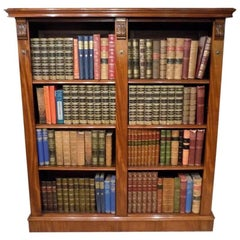 Fine Quality Mahogany Victorian Period Open Bookcase by Maple & Co.