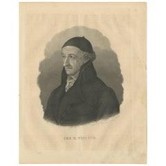 Antique Portrait of Christoph Martin Wieland by C. Meyer, 1847