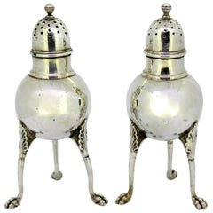 Tiffany & Co, Antique Sterling Silver Salt and Pepper, USA, circa 1873-1891