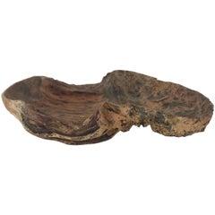 Large Rare Swedish Northern Hand-Carved Birch Burl Bowl