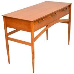 1950s Vintage Satinwood Desk