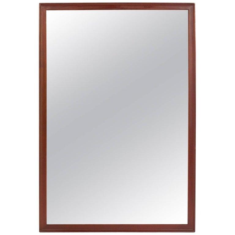 Clean Lined Walnut Mirror by Kipp Stewart for Drexel For Sale
