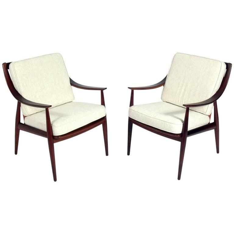 Pair of Danish Modern Lounge Chairs by Ib Kofod-Larsen